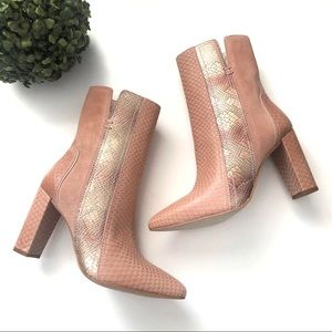 Matisse Cobra Blush Ankle Booties